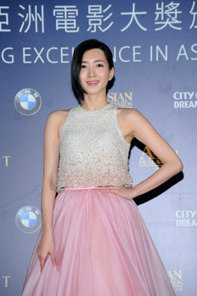 Jiang Shuying of the film So Young scored the Best Newcomer award at the 8th Asian Film Awards