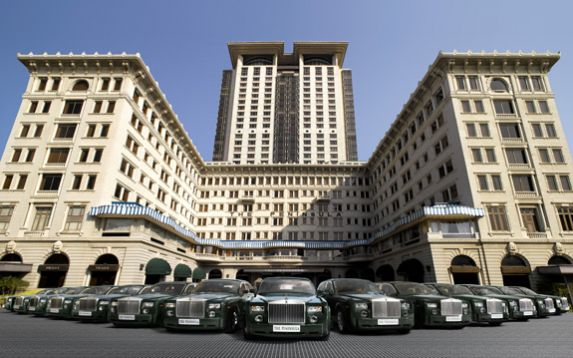The Peninsula Hong Kong caters to those seeking luxury with its own fleet of 14 Rolls-Royce Extended Wheelbase Phantom limousines.